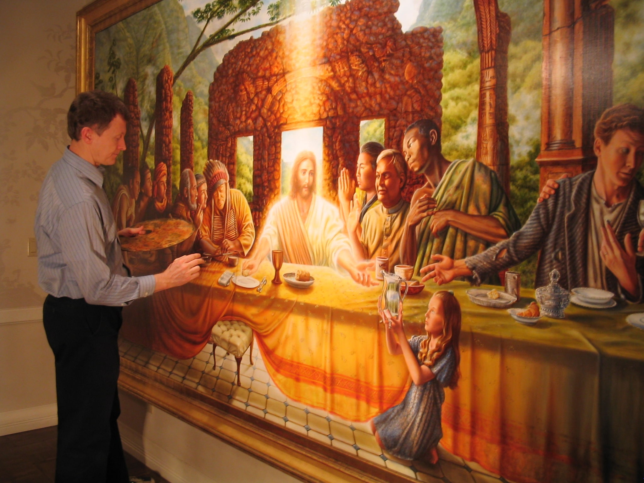 painting The First Supper-min